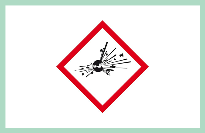 Symbool huishoudproduct explosief