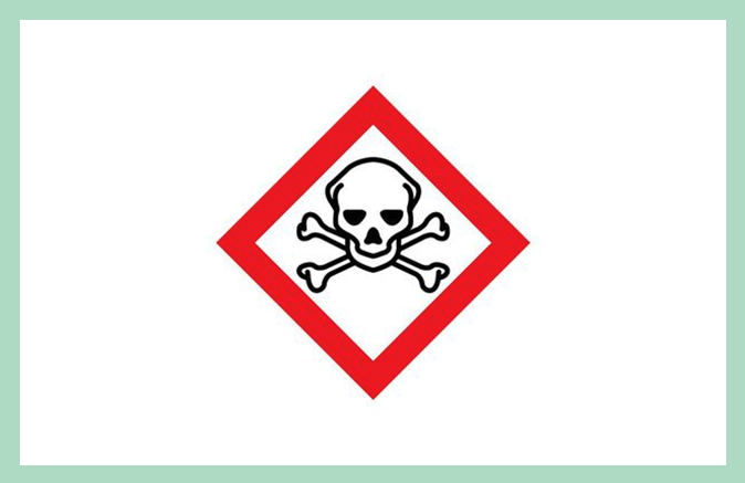 Symbool huishoudproduct giftig