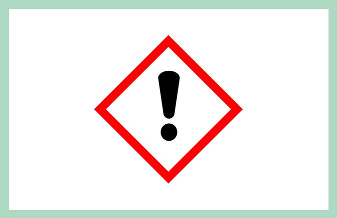 Symbool huishoudproduct Irriterend en schadelijk