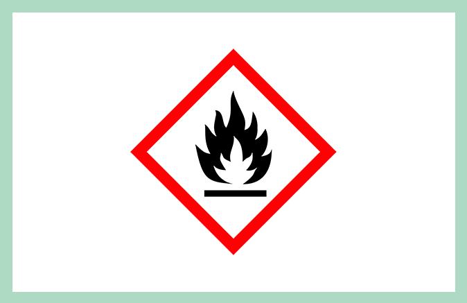 Symbool huishoudproduct ontvlambaar